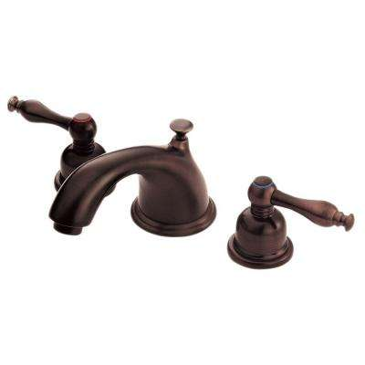 Sheridan 8 in. Widespread 2-Handle Low-Arc Bathroom Faucet in Oil Rubbed Bronze