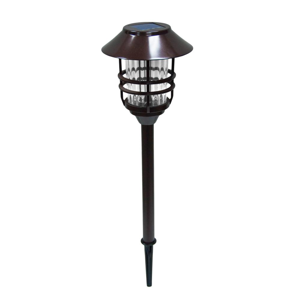 8-Lumens Bronze Outdoor Intergrated LED Solar Landscape Path Light (8-Pack)