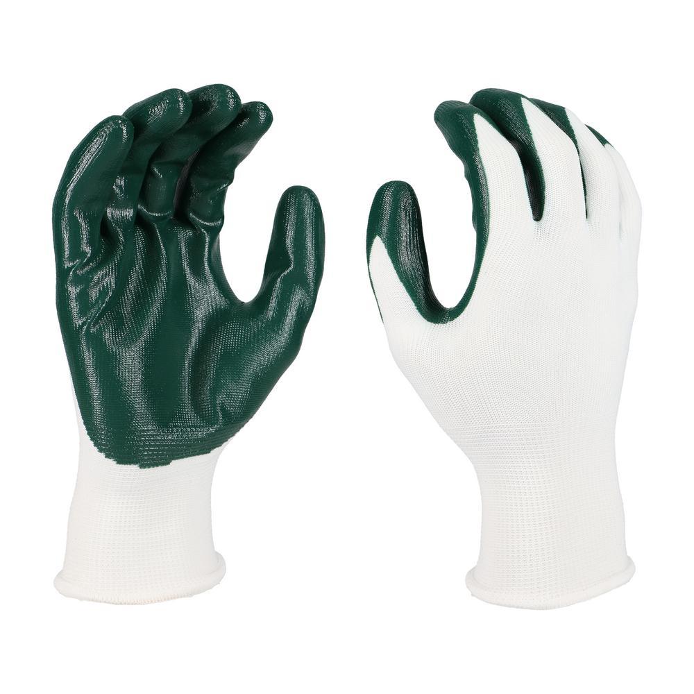Men's Large Nitrile Dipped Gloves (3-Pack)