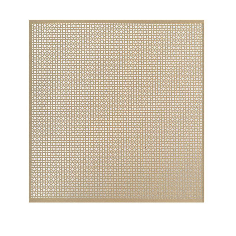 24 in. x 36 in. Lincane Aluminum Sheet in Brass