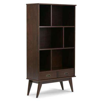 Draper Medium Auburn Brown Storage Open Bookcase and Storage Unit