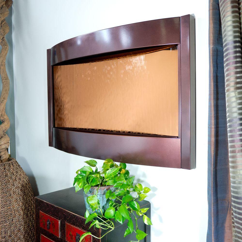 Contempo Solare Dark Copper Bronze Mirror Horizontal Fountain