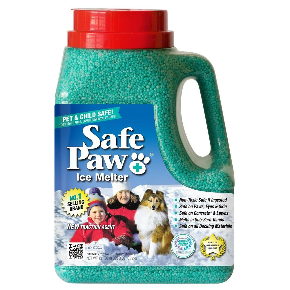 Safe Paw 8 lb. Jugs of Pet and Child Friendly Ice Melt (Green Seal of Approvals 100% Salt Free) (Case of 6 )