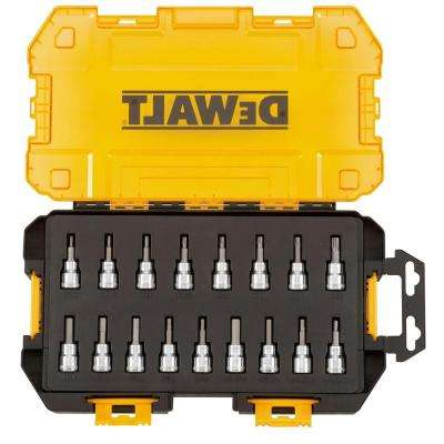 3/8 in. Drive Bit Socket Set with Case (17-Piece)