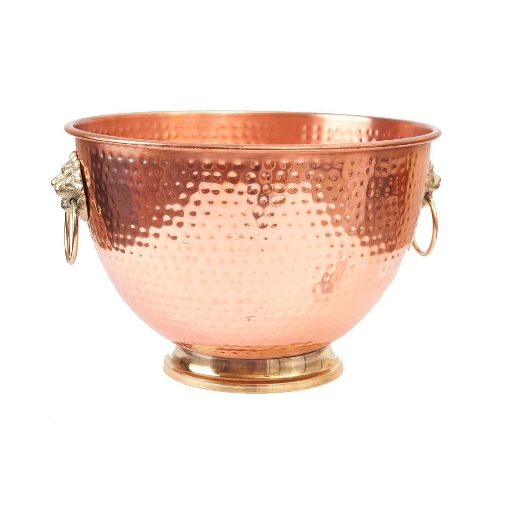 Decor Copper Lion S Head Beverage Cooler