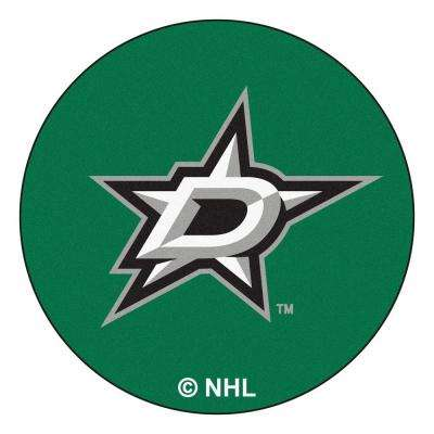 Dallas Stars Green 2 ft. x 2 ft. Round Area Rug