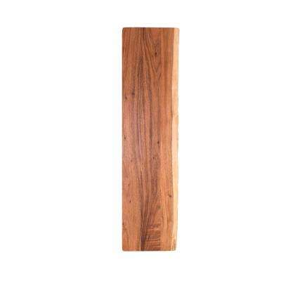 8 ft. L x 2 ft. 1 in. D x 1.5 in. T Butcher Block Countertop in Oiled Acacia