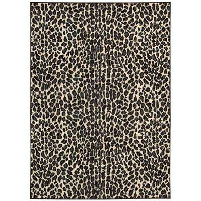 Studio Ivory/Black 3 ft. 11 in. x 5 ft. 3 in. Area Rug
