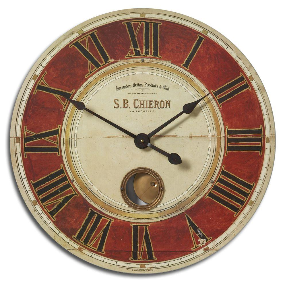 Global Direct 23 in. Antique Reproduction Round Wall Clock