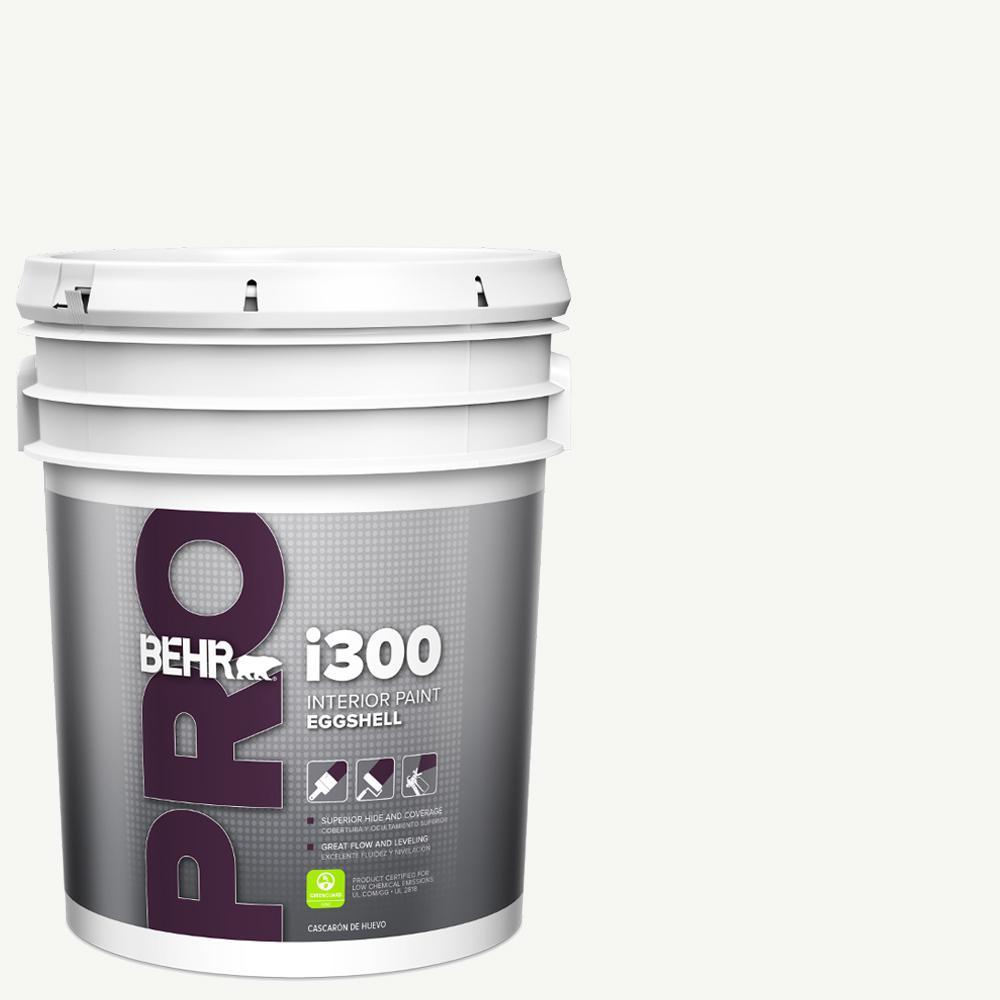 BEHR PRO 5 gal. i300 White Eggshell Interior Paint