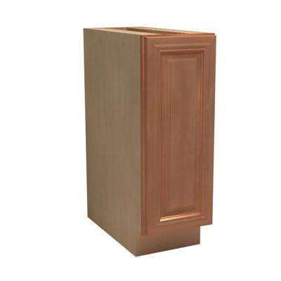 Dartmouth Assembled 21x34.5x24 in. Single Door Hinge Right Base Kitchen Cabinet in Cinnamon