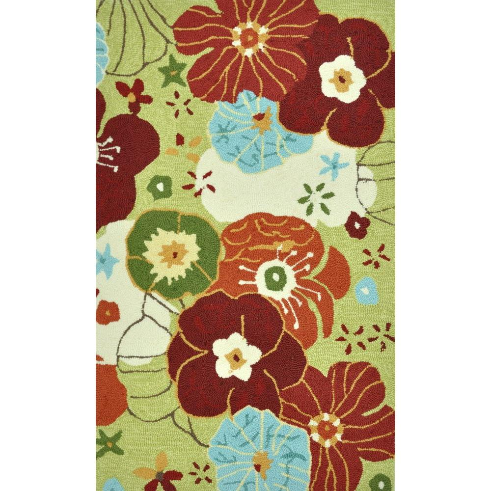Loloi Rugs Summerton Life Style Collection Lime/Multi 2 ft. 3 in. x 3 ft. 9 in. Accent Rug