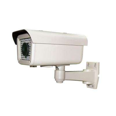 Wired 700 TVL 1/3 in. 960H CCD Indoor or Outdoor Bullet Standard Surveillance Camera in White