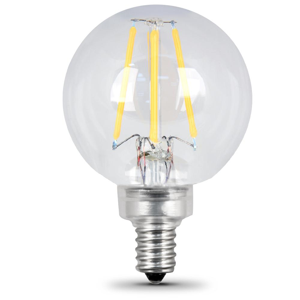 Candelabra Led Bulb: Feit Electric 40W Equivalent Soft White G16.5 Dimmable