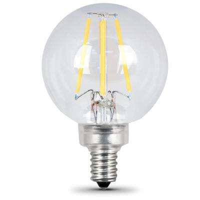 40W Equivalent Soft White G16.5 Dimmable Clear Filament LED Candelabra Base Light Bulb (Case of 48)