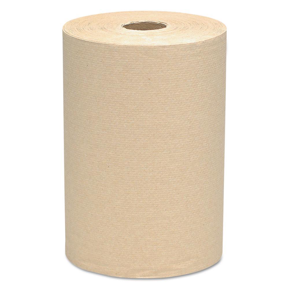 Natural Hard Roll Paper Towels (Case of 12), Brown ShopFest Money Saver