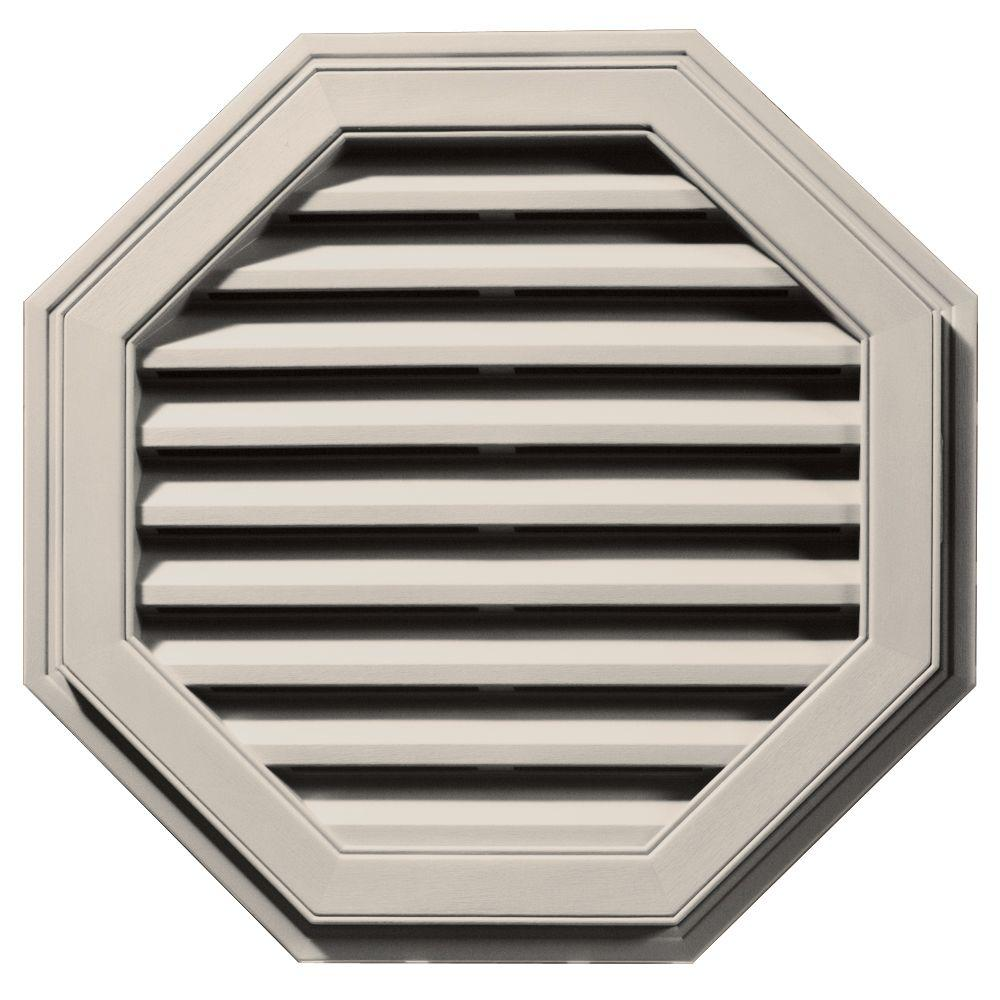 Builders Edge 27 in. Octagon Gable Vent in Almond