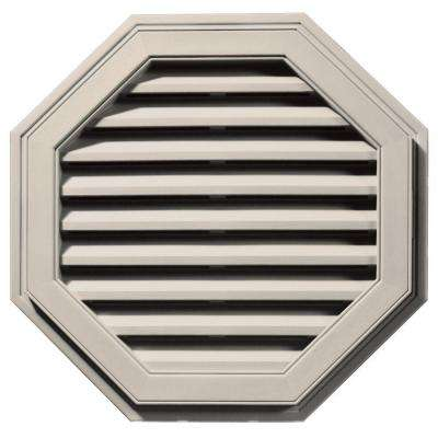 27 in. Octagon Gable Vent in Almond