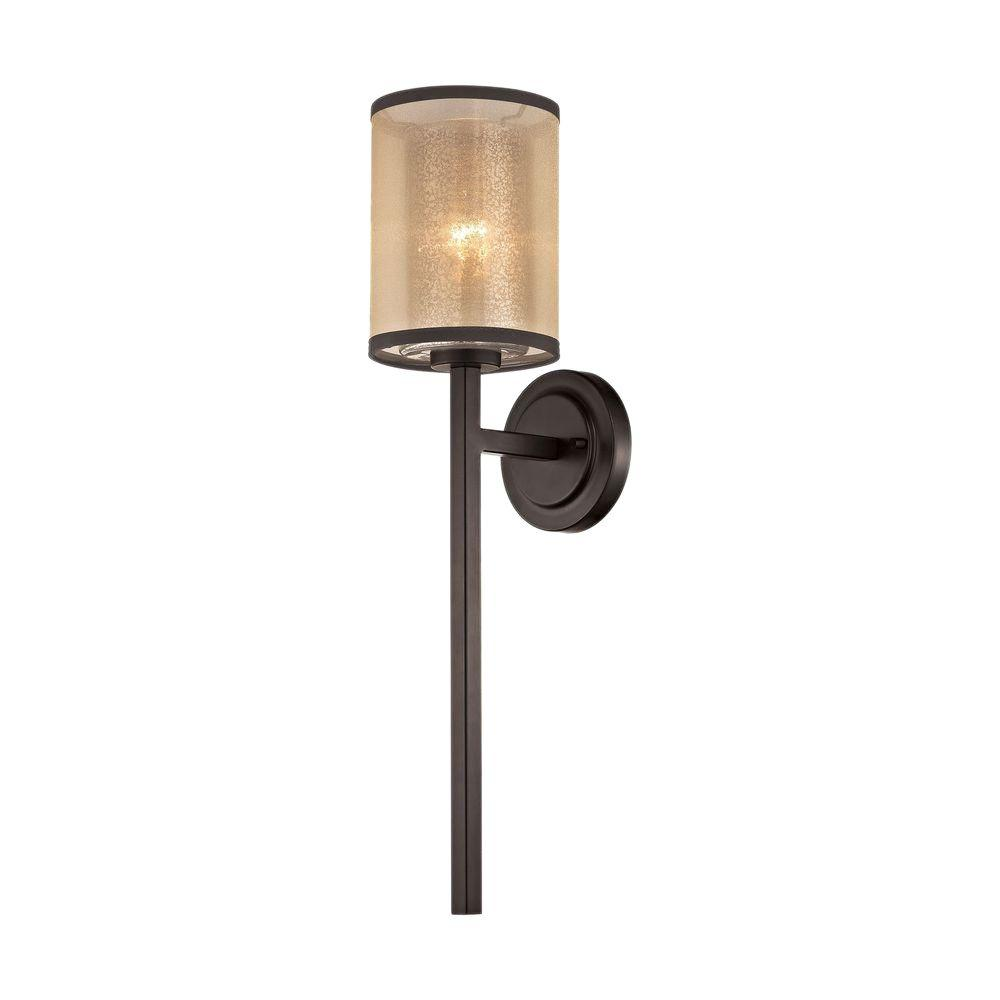 titan lighting diffusion 1-light oil rubbed bronze led wall sconce