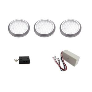 led under cabinet hardwired low profile puck light kit 3pack - Led Puck Lights