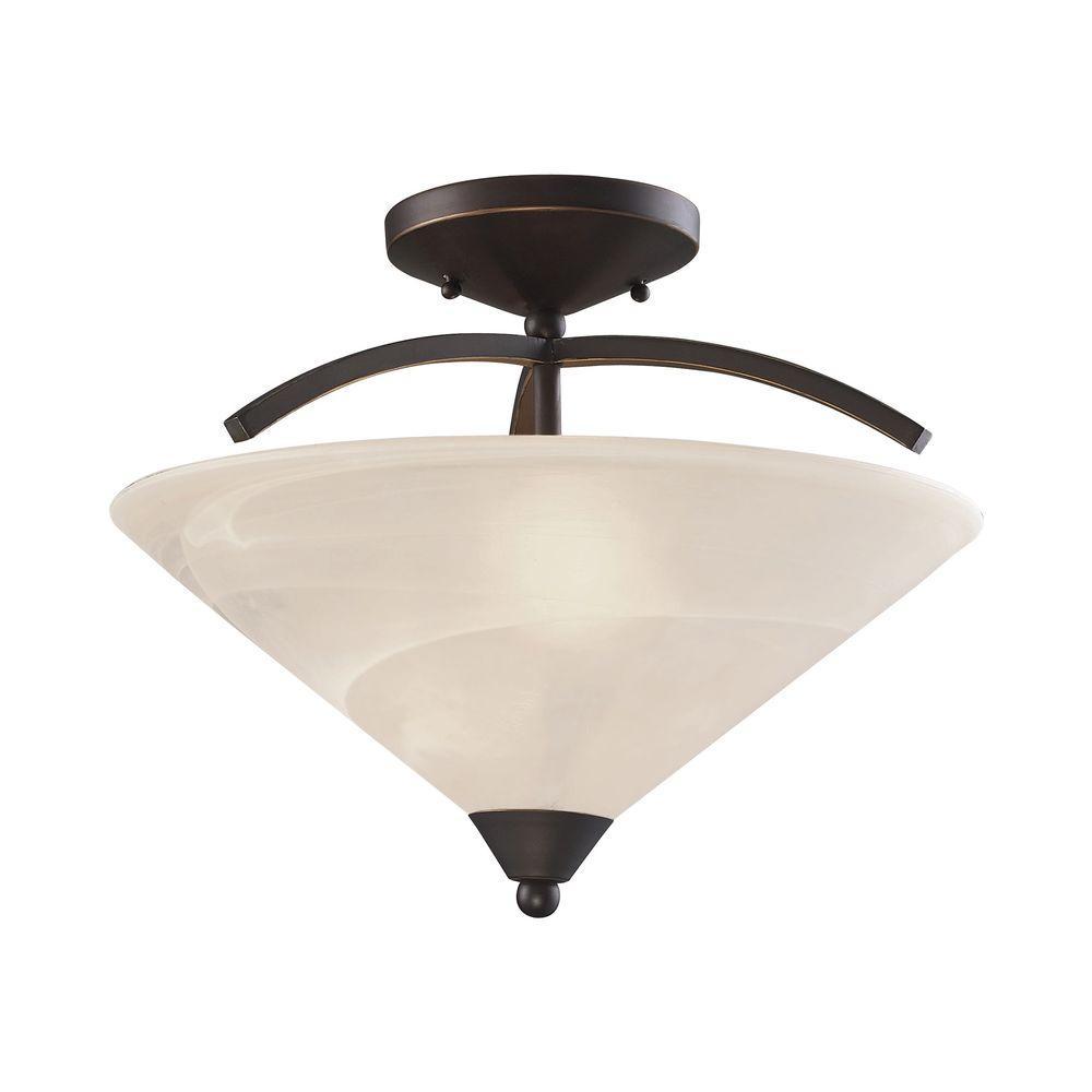 Titan Lighting Elysburg 2-Light Oil Rubbed Bronze Semi Fl...