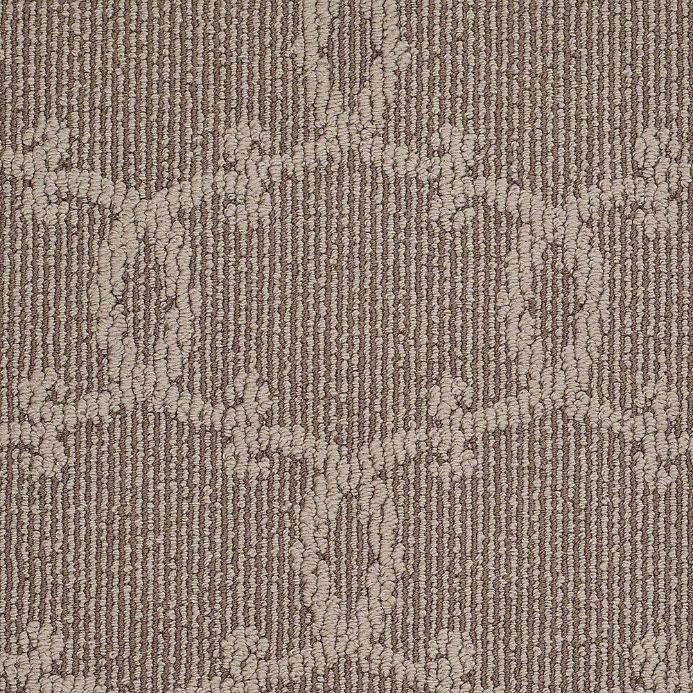 Carpet Sample - Manhattan - In Color Deer Tracks 8 in. x 8 in.