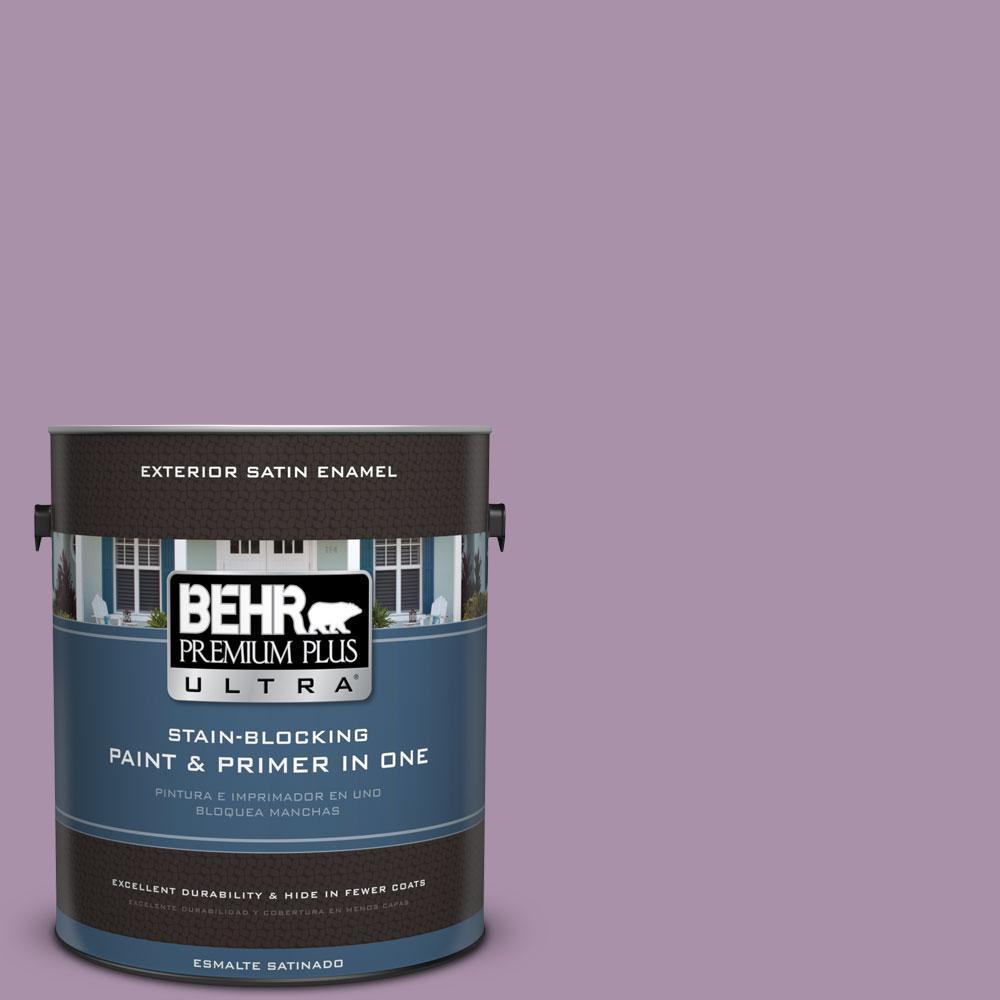 BEHR Premium Plus Ultra 1-gal. #670D-5 Garden Flower Satin Enamel Exterior Paint