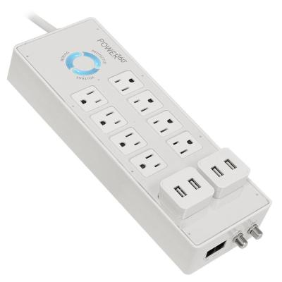 Power360 8-Outlet Floor Strip with USB Pluggable