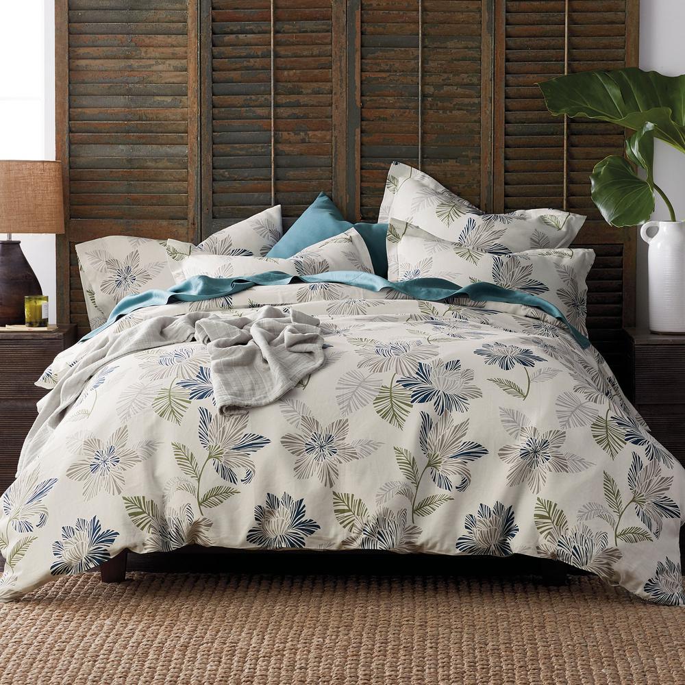 The Company Store Grady Floral Linen King Duvet Cover 50342D-K-MULTI