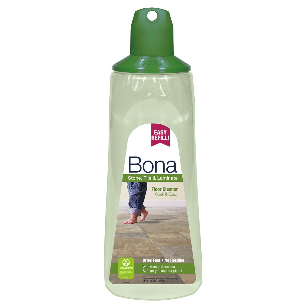 Bona 34 Oz Stone Tile And Laminate Floor Cleaner Refill