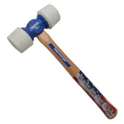 24 oz. White Tip Rubber Mallet with 14 in. Hickory Handle