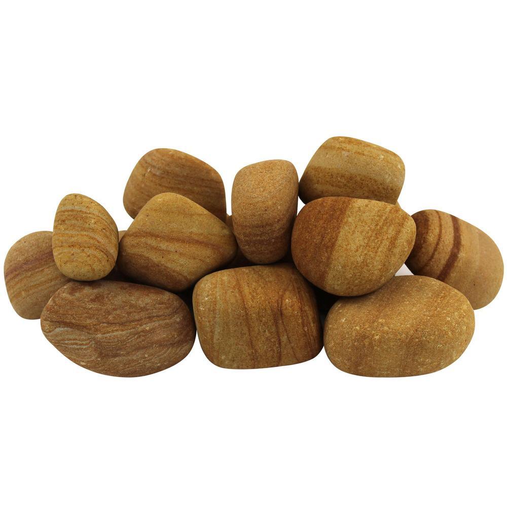 12.0 cu. ft. 1 in. to 3 in. 900 lbs. Teakwood Pebbles