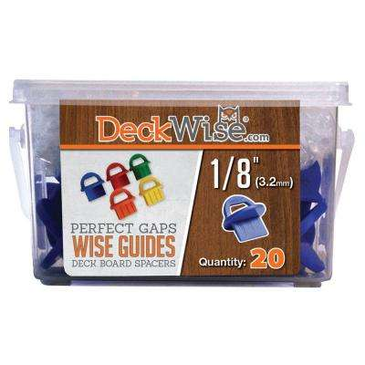 WiseGuides 1/8 in. Gap Deck Board Spacer for Hidden Deck Fasteners (20-Count)