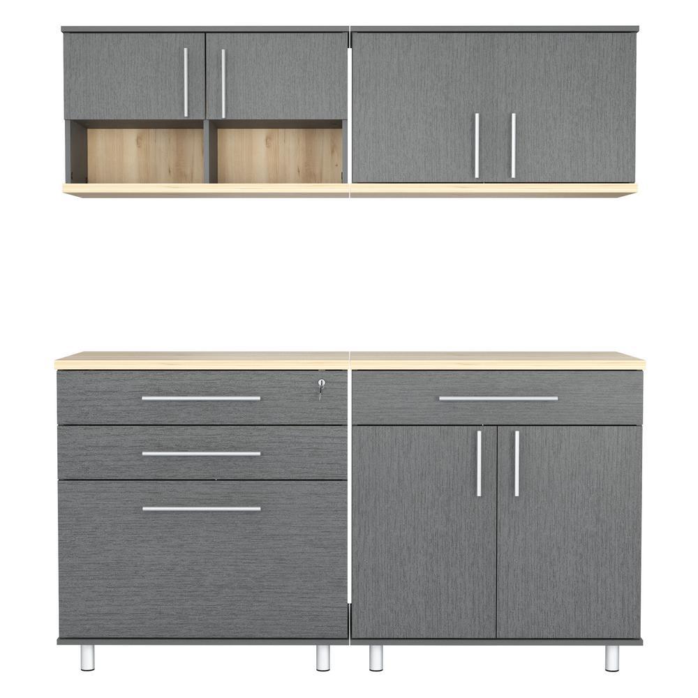 Graphite Grey & Maple 63. in. W x 72.2 in. H