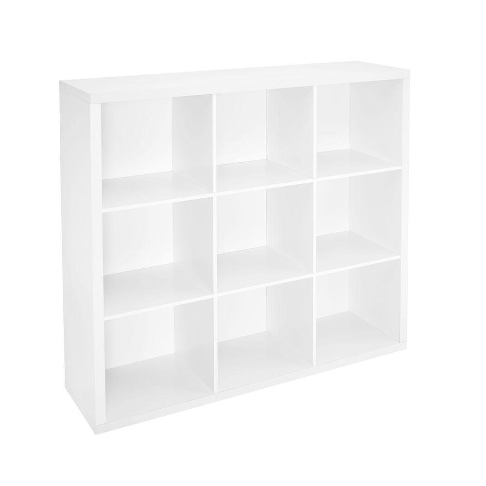 los angeles 1375f 4824b ClosetMaid 44 in. W x 44 in. H Decorative White 9-Cube Organizer
