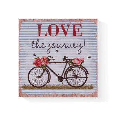 Inspirational Love the Journey Wooden Wall Art Sign
