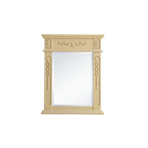 Medium Rectangle Light Antique Beige Contemporary Mirror (28 in. H x 22 in. W)