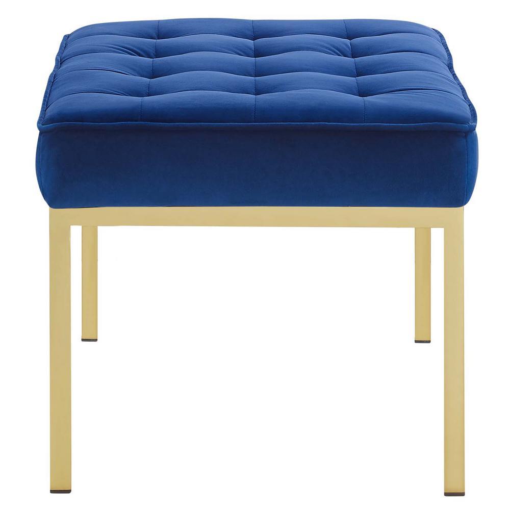 Pleasant Loft Gold Navy Stainless Steel Leg Medium Performance Velvet Bench Ibusinesslaw Wood Chair Design Ideas Ibusinesslaworg