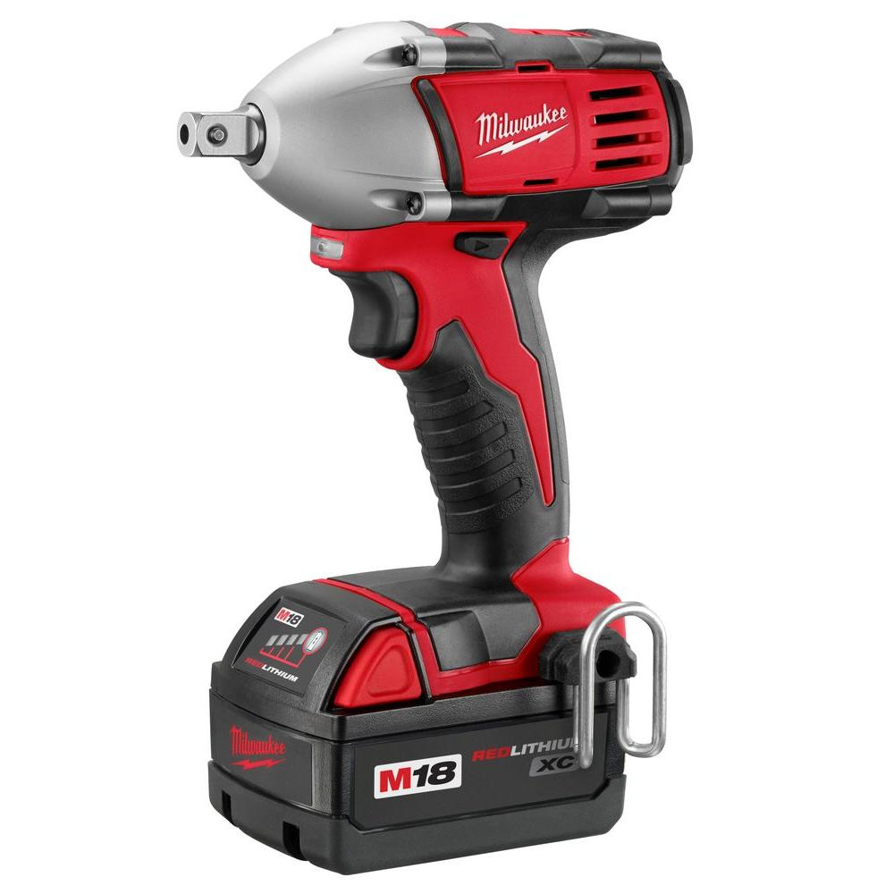 Milwaukee M18 18-Volt Lithium-Ion 1/2 in. Cordless Compact Impact Wrench Kit