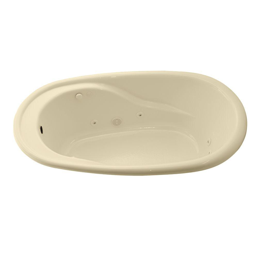 American Standard Contempo Oval EverClean 6 ft. Whirlpool Tub in Bone