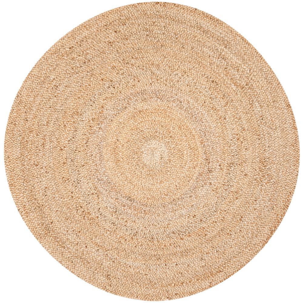 safavieh natural fiber beige 7 ft x 7 ft round area rug nf733a 7r the home depot. Black Bedroom Furniture Sets. Home Design Ideas