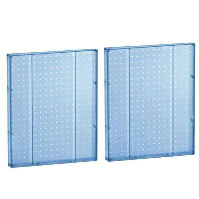20.25 in H x 16 in W Pegboard Blue Styrene One Sided Panel