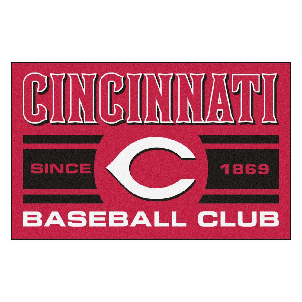 Fanmats Mlb Cincinnati Reds Red 2 Ft X 3 Area Rug