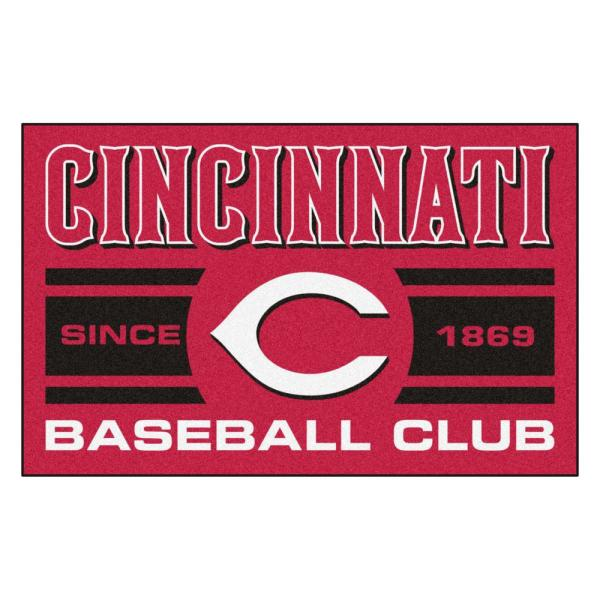 MLB Cincinnati Reds Red 2 ft. x 3 ft. Area Rug