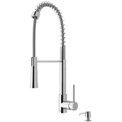 Laurelton Single-Handle Pull-Down Sprayer Kitchen Faucet with Soap Dispenser in Chrome