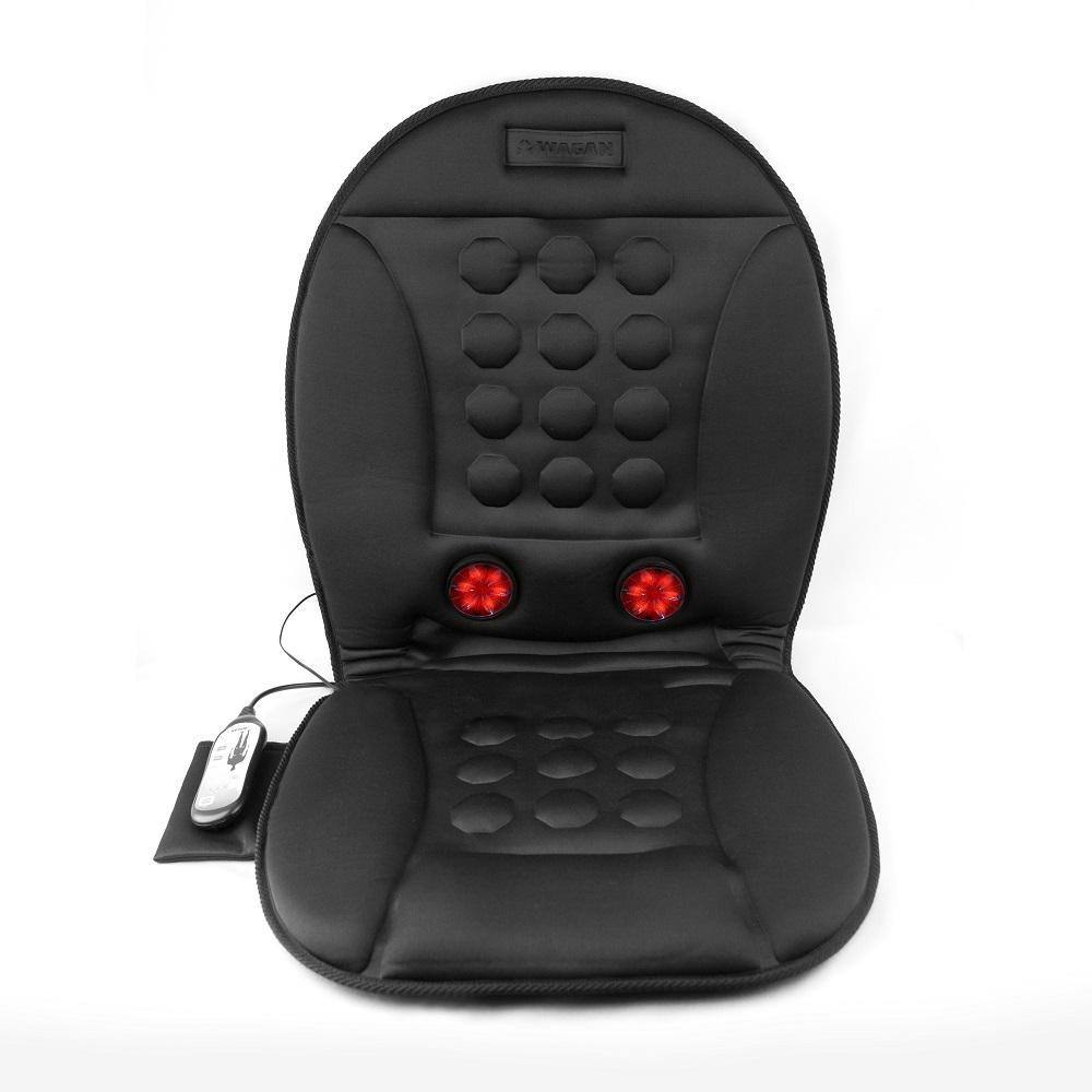 Wagan Tech 3-Speed Infra-Heat Massage Magnetic Cushion