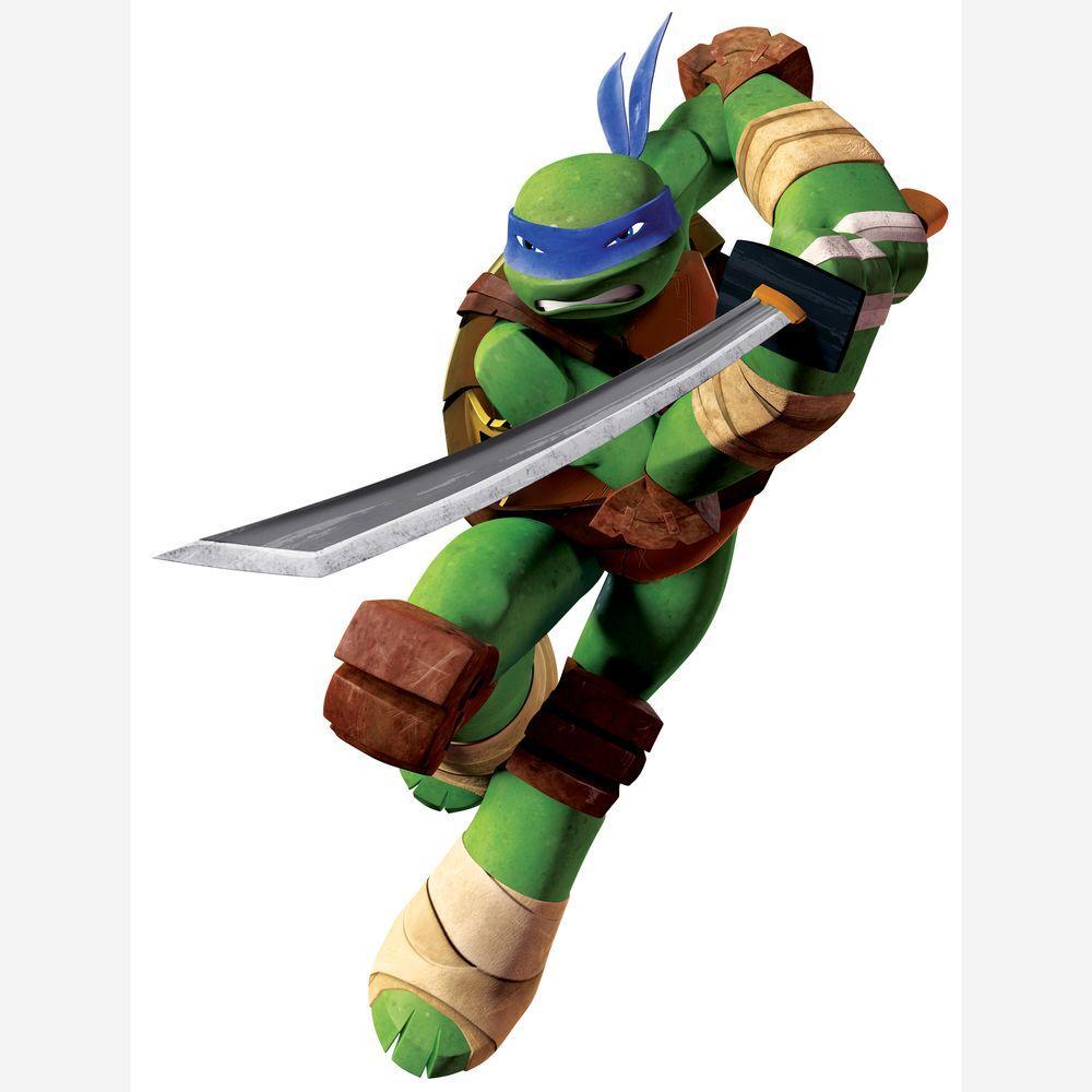 27 5 in  x 36 8 in  Teenage Mutant Ninja Turtles Leo Peel and Stick Giant  Wall Decals
