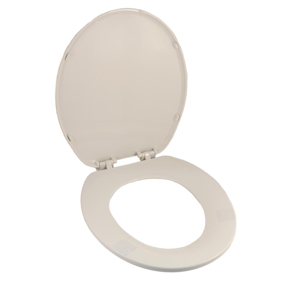non slam toilet seat. BEMIS Adjustable Slow Close Never Loosens Round Closed Front Toilet Seat in  White 530SLOW 000 The Home Depot