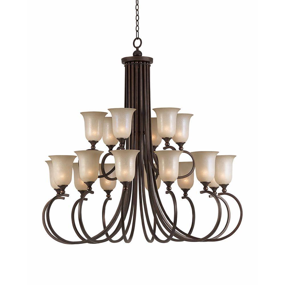 Lumenno International Purelife 18-Light Bronze Chandelier
