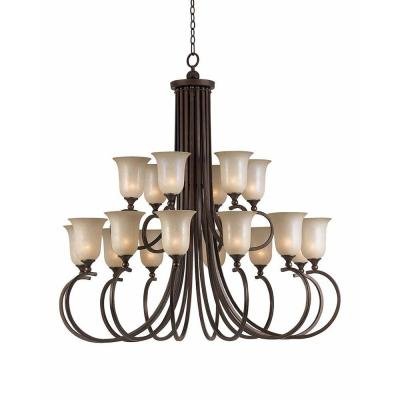 Purelife 18-Light Bronze Chandelier